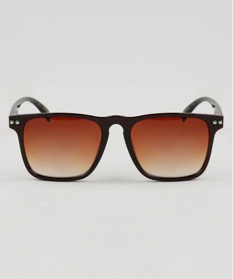 Oculos-de-Sol-Quadrado-Feminino-Oneself-Marrom-9474126- 4bc37f0df1