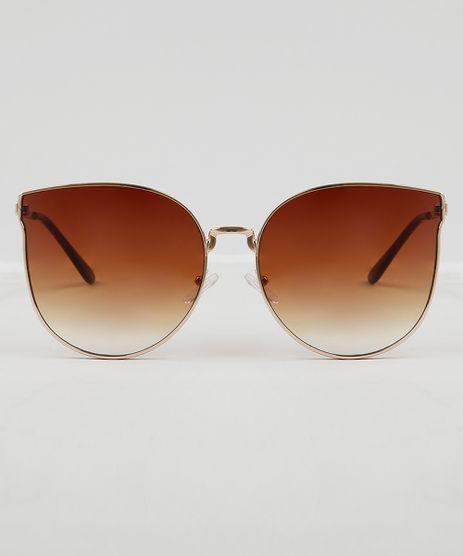 Oculos-de-Sol-Gatinho-Feminino-Oneself-Dourado-9474096- e61ebf2b17