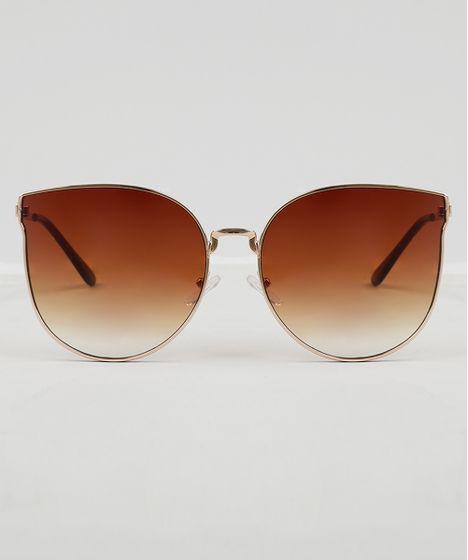 074ad8458 Oculos-de-Sol-Gatinho-Feminino-Oneself-Dourado-9474096- ...