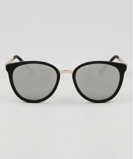 9ec6f525d Oculos-de-Sol-Redondo-Feminino-Oneself-Preto-9465142- ...