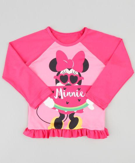 Blusa-de-Praia-Infantil-Minnie-Manga-Longa-com-Protecao-UV50--Pink-9384612-Pink_1
