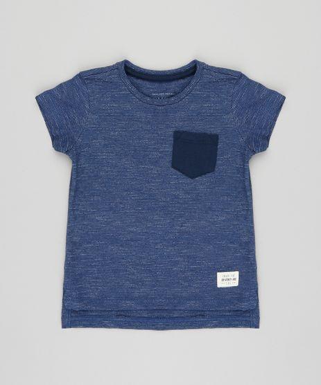 Camiseta-Infantil-com-Bolso-Manga-Curta-Gola-Careca-Azul-Marinho-9411458-Azul_Marinho_1