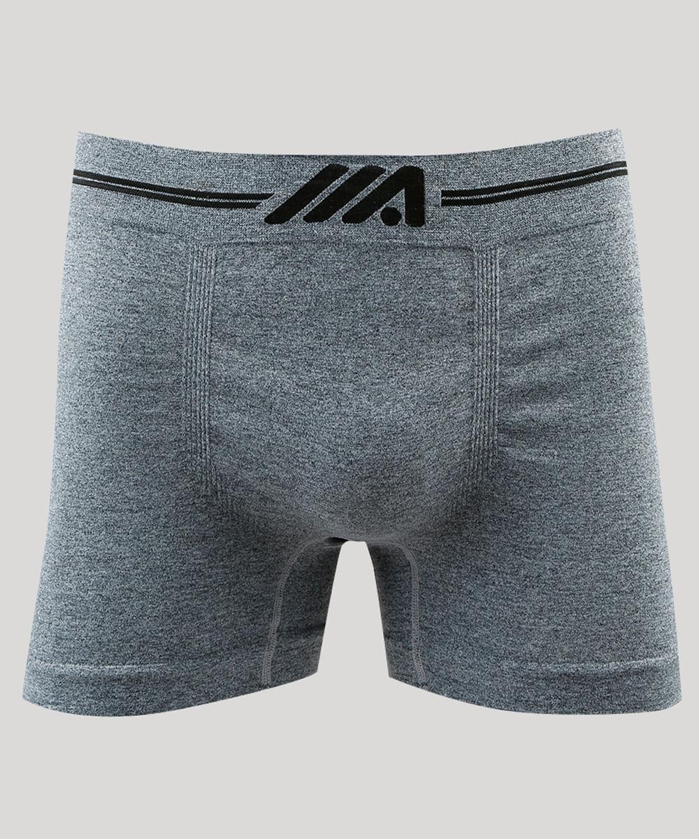 1b3293c2f Cueca Boxer Masculina Sem Costura Ace em Microfibra Cinza Mescla ...
