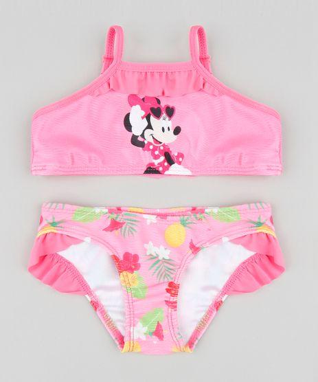 Biquini-Infantil-Minnie-com-Protecao-UV50--Pink-9384610 cef1a295b9bcd