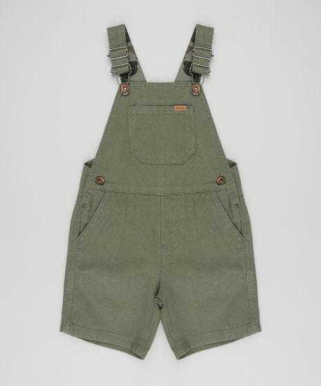 Jardineira-Color-Infantil-com-Bolsos-Verde-Militar-9396327-Verde_Militar_1