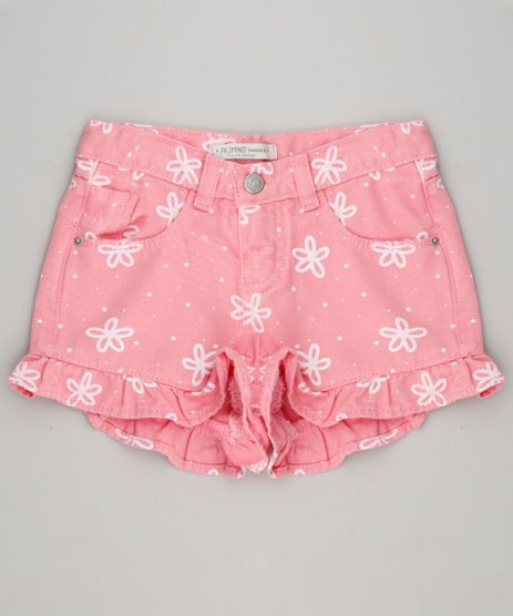 Short-Color-Infantil-Estampado-Floral-com-Babado-Rosa-9368842-Rosa_1