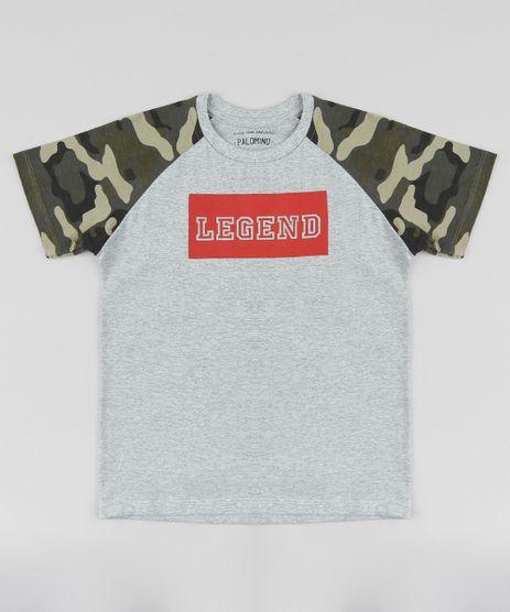 Camiseta-Infantil-Raglan--Legend--Manga-Curta-com-Estampa-Camuflada-Cinza-Mescla-9416589-Cinza_Mescla_1