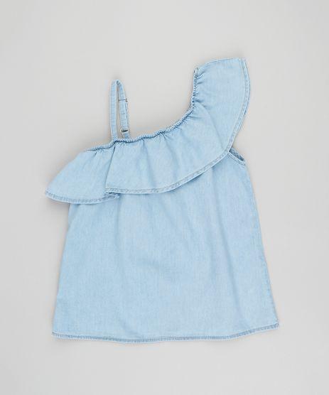 Blusa-Jeans-Infantil-Um-Ombro-So-com-Babado-Azul-Claro-9418347-Azul_Claro_1