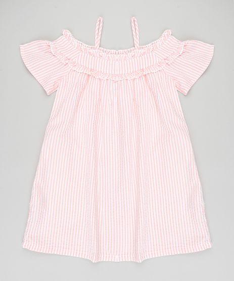 Vestido-Infantil-Open-Shoulder-Listrado-Manga-Curta-Coral-9182798-Coral_1