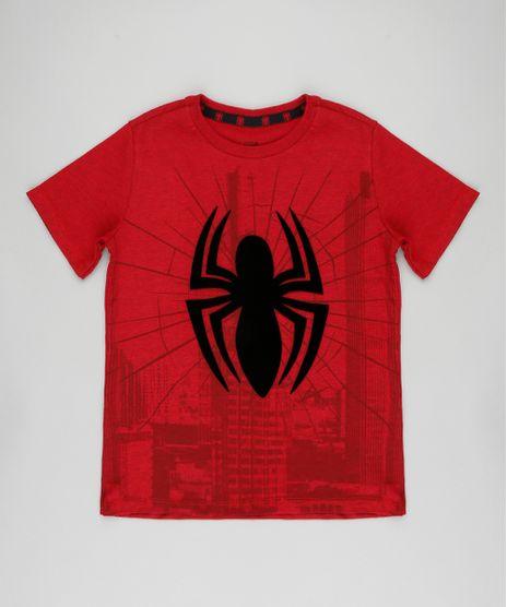 ebd4311a8a Camiseta-Infantil-Homem-Aranha-Manga-Curta-Gola-Careca-