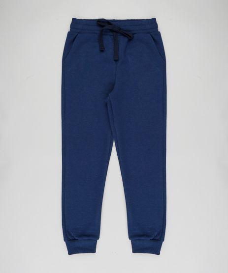 Calca-Infantil-Basica-em-Moletom-Felpado-com-Bolsos-Azul-Marinho-9393767-Azul_Marinho_1