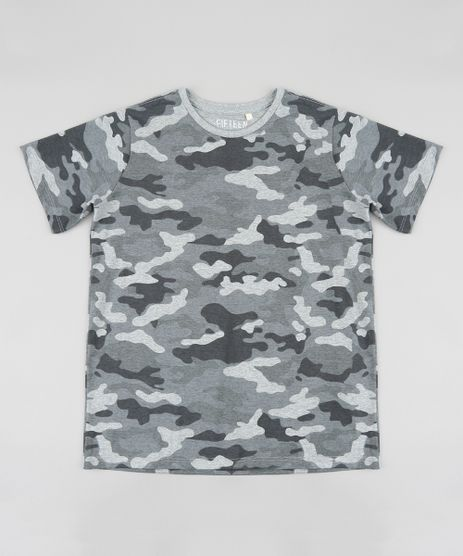 Camiseta-Infantil-Estampada-Camuflada-Manga-Curta-Gola-Careca-Cinza-Mescla-9396782-Cinza_Mescla_1