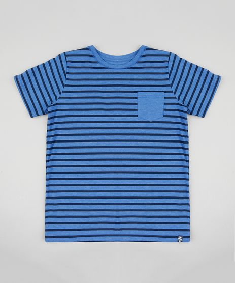 Camiseta-Infantil-Listrada-com-Bolso-Manga-Curta-Gola-Azul-9411987-Azul_1