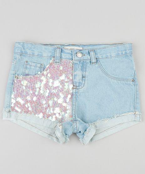 Short-Jeans-Infantil-com-Paetes-e-Barra-Dobrada-Azul-Claro-9320871-Azul_Claro_1