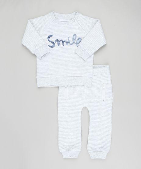 Conjunto-Infantil-de-Blusao--Smile--em-Moletom-Canelado---Calca-Cinza-Mescla-Claro-9200192-Cinza_Mescla_Claro_1