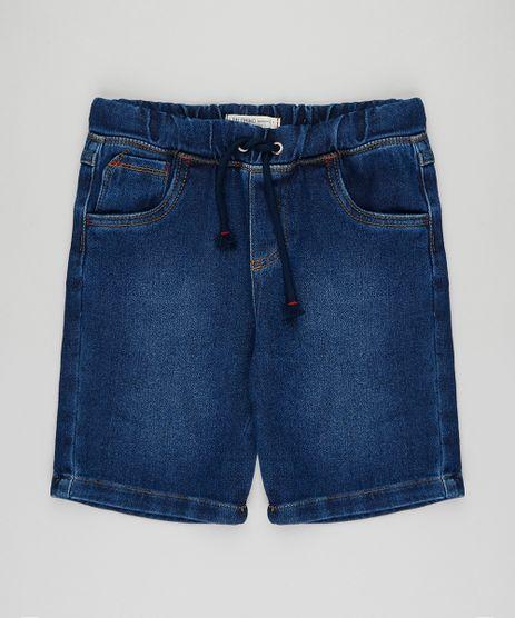 Bermuda-Jeans-infantil-com-Cordao-Azul-Escuro-9397380-Azul_Escuro_1