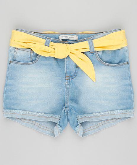 Short-Jeans-Infantil-com-Lenco-com-Barra-Dobrada-Azul-Claro-9375992-Azul_Claro_1