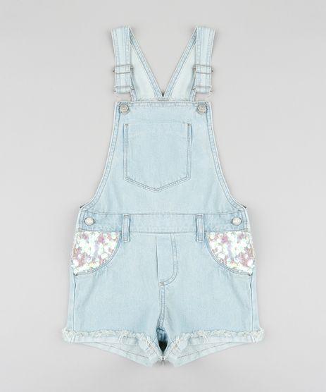 Jardineira-Jeans-Infantil-com-Paetes-e-Barra-Dobrada-Azul-Claro-9320867-Azul_Claro_1