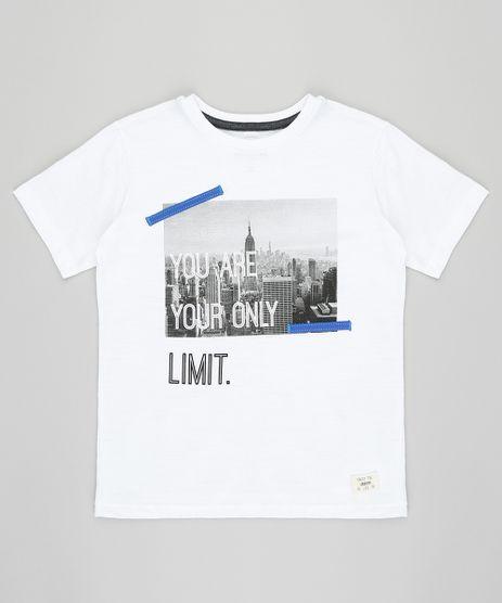 Camiseta-Infantil--You-are-Your-Only-Limit--Manga-Curta-Gola-Careca-Off-White-9416325-Off_White_1