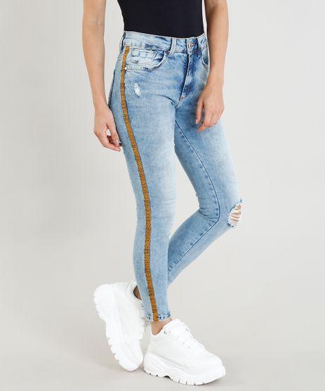 Calca-Jeans-Feminina-Cigarrete-com-Faixa-Lateral-Azul-Claro-9365668-Azul_Claro_1