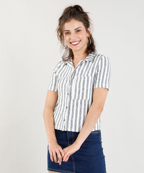 Camisa-Feminina-Cropped-Listrada-com-Bolso-Manga-Curta-Off-White-9370080-Off_White_1