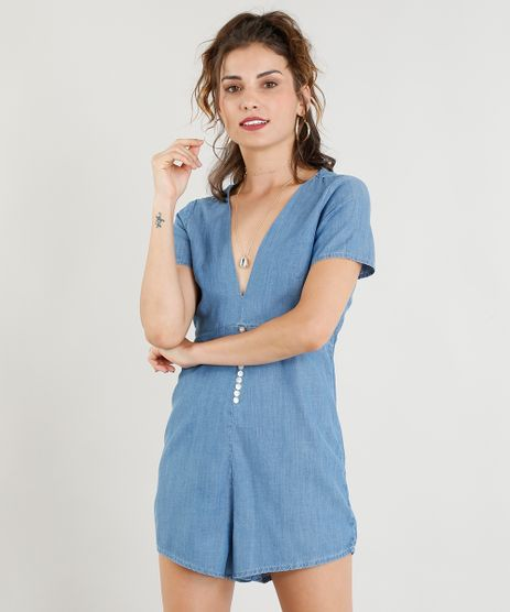 Macaquinho-Jeans-Feminino-com-Botoes-Manga-Curta-Azul-Claro-9365632-Azul_Claro_1