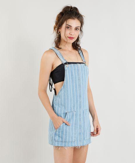 Salopete-Jeans-Feminina-Listrada-com-Bolsos-Azul-Claro-9405607-Azul_Claro_1
