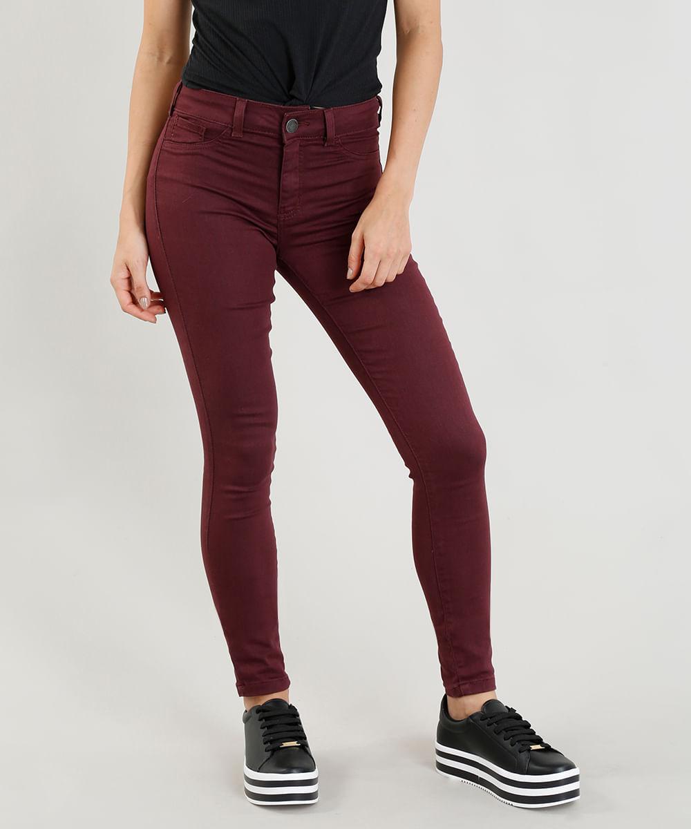 Calça Feminina Skinny Energy Jeans Roxa