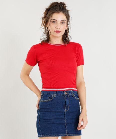 Blusa-Feminina-Cropped-Canelada-Manga-Curta-Decote-Redondo-Vermelha-9254916-Vermelho_1