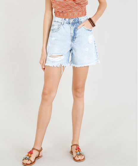 Bermuda-Jeans-Feminina-Girlfriend-Destroyed-Azul-Claro-9346370-Azul_Claro_1