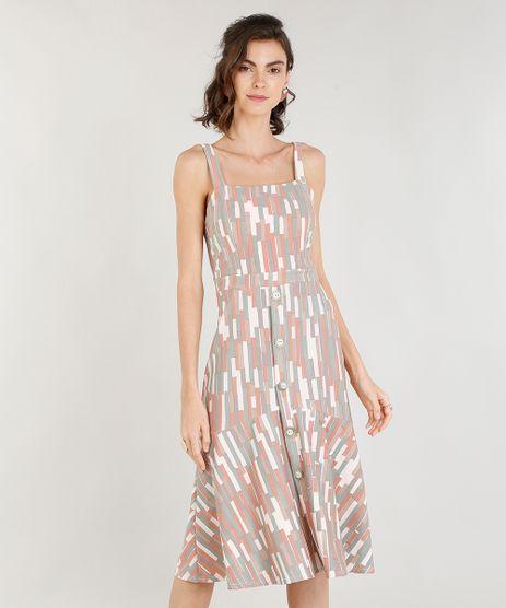 Vestido-Midi-Feminino-Estampado-Geometrico-com-Botoes-Rose-9368031-Rose_1