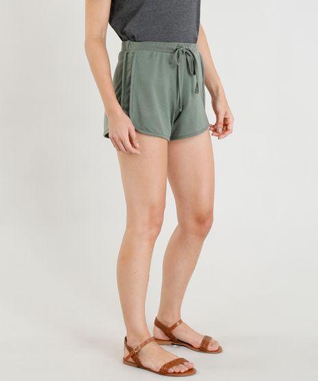 Short-Feminino-Running-Esportivo-Basico-em-Malha-Verde-Militar-9394150-Verde_Militar_1