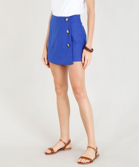 Short-Saia-Feminino-em-Linho-com-Botoes-Azul-Royal-9393120-Azul_Royal_1
