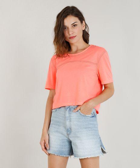 T-Shirt-Neon-Cropped-Feminina-Mindset-Manga-Curta-Rosa-Neon-9408706-Rosa_Neon_1
