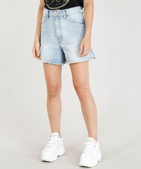 Short-Jeans-Feminino-Mindset-Cintura-Alta-Barra-Desfiada-Azul-Claro-9476613-Azul_Claro_1