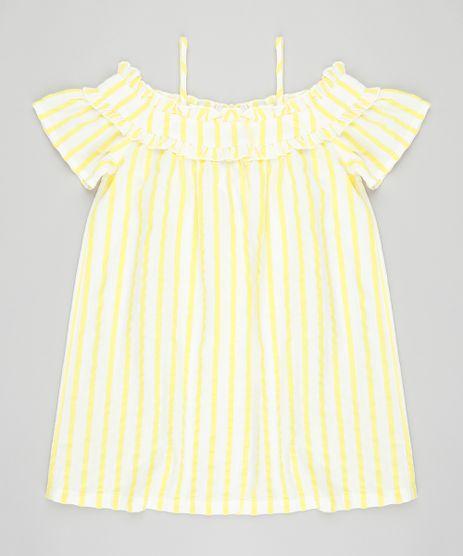 Vestido-Infantil-Open-Shoulder-Listrado-Manga-Curta-Off-White-9182799-Off_White_1