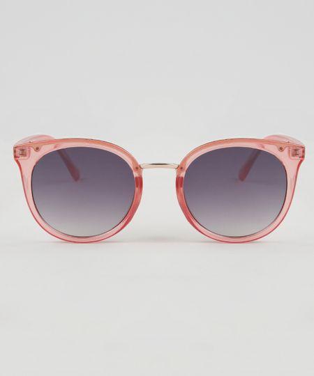 Óculos de Sol Redondo Feminino Oneself Rosa - cea 337342770f