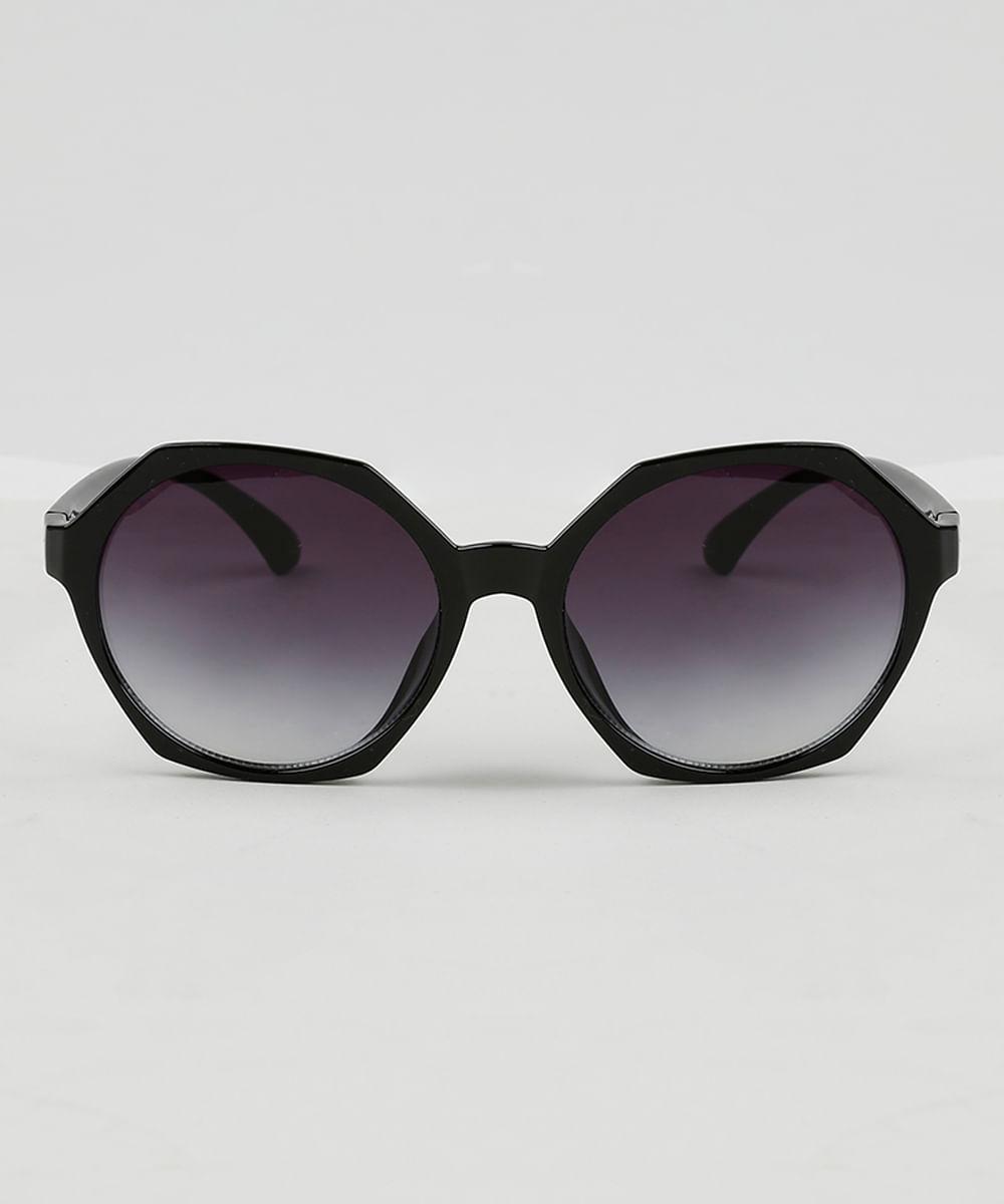 Óculos de Sol Geométrico Feminino Oneself Preto - ceacollections 12ef85f899