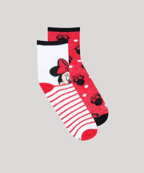 Kit-de-2-Meias-Infantis-Cano-Medio-Minnie-Estampadas-Multicor-9389581-Multicor_1
