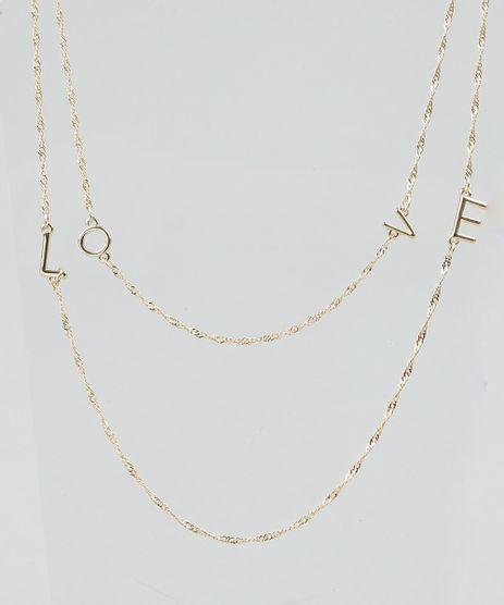 Colar-Feminino-Duplo--Love--Dourado-9292837-Dourado_1