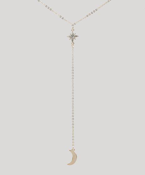 Colar-Feminino-com-Pingente-de-Lua-e-Estrela-Dourado-9292890-Dourado_1