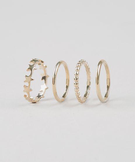 Kit-de-4-Aneis-Femininos-Dourado-9292849-Dourado_1