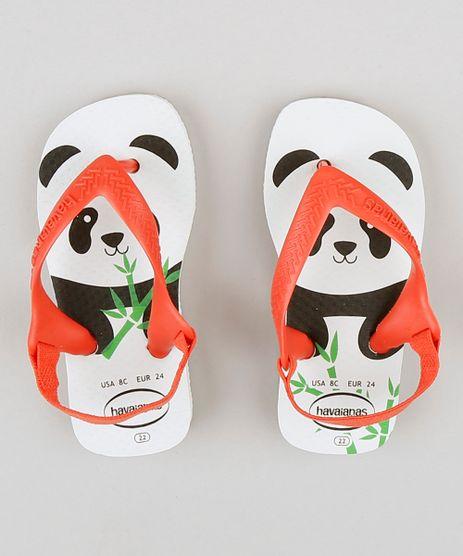 993ff16c3d704 Chinelo-Infantil-Havaianas-Urso-Panda-com-Elastico-Branco-