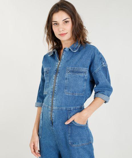 Macacao-Jeans-Pantacourt-Oversized-Feminino-Mindset-com-Bolsos-Azul-Escuro-9391046-Azul_Escuro_1