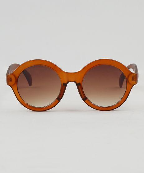 0ea62d2c64733 Oculos-de-Sol-Redondo-Feminino-Oneself-Marrom-9474159-
