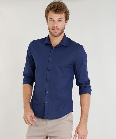 Camisa-Masculina-Slim-Listrada-Manga-Longa-Azul-Marinho-9253702-Azul_Marinho_1