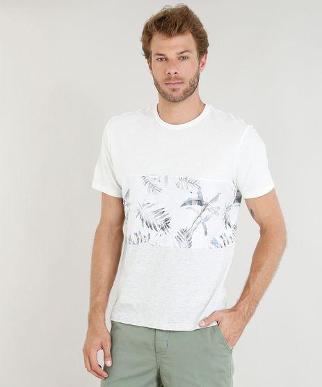 Camiseta-Masculina-com-Estampa-de-Folhagem-e-Recorte-Manga-Curta-Gola-Careca-Off-White-9410908-Off_White_1