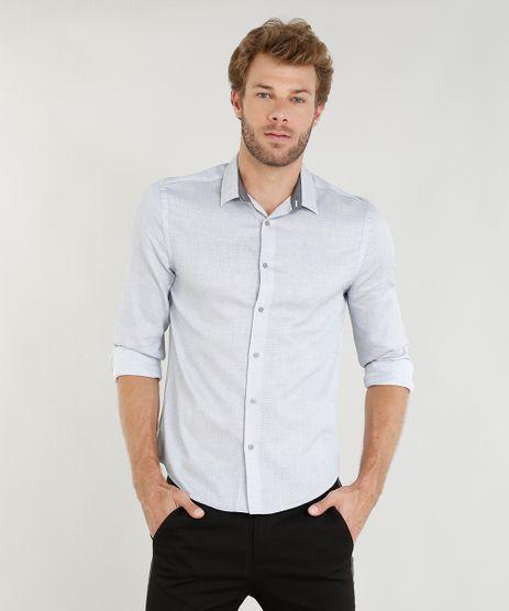 Camisa-Masculina-Comfort-Texturizada-Manga-Longa-Cinza-Claro-9253785-Cinza_Claro_1