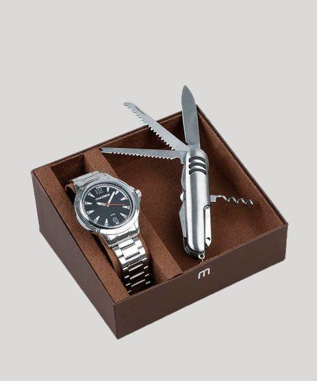 Kit-de-Relogio-Analogico-Mondaine-Masculino---Canivete---83452G0MVNE1KA-Prateado-9398573-Prateado_1