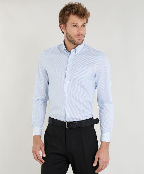Camisa-Masculina-Comfort-Listrada-com-Bolso-Manga-Longa-Azul-Claro-9249078-Azul_Claro_1